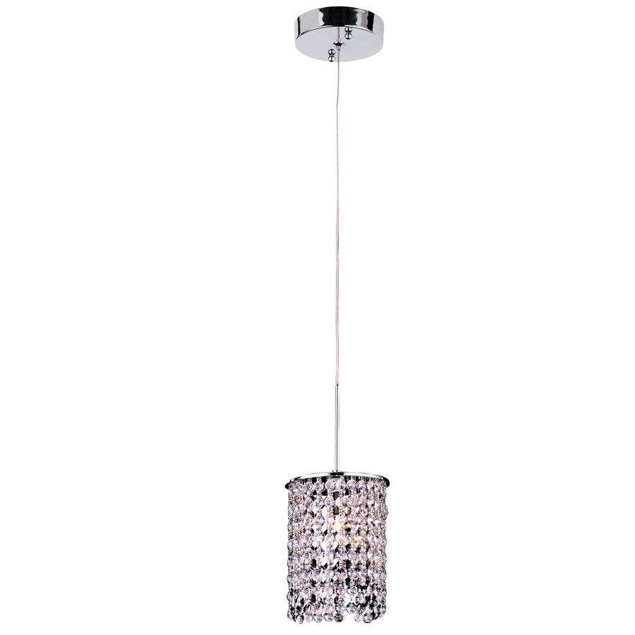 Pendant Lights At Lowes Shop Style Selections 552In W Polished Chrome Crystal Mini Pendant