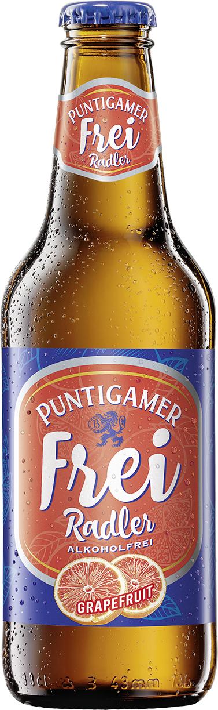 BILD zu OTS - Der Puntigamer Frei Radler ist ein alkoholfreies BiermischgetrŠnk aus 50 Prozent Grapefruit-Limonade und 50 Prozent alkoholfreiem Bier.