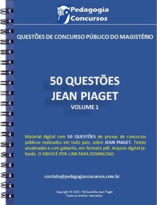 50 Questoes De Jean Piaget Como Estudar Para Concurso Concurso
