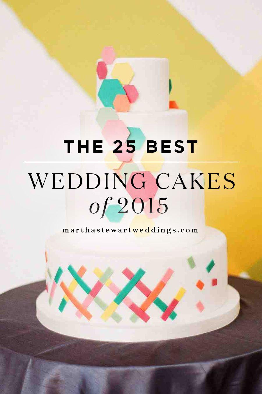 The 25 Best Wedding Cakes Of 2015 Martha Stewart Weddings Wed