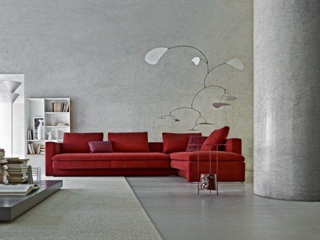 Ambiance Gris Rouge Furniture Design Modern Italian Sofa Furniture