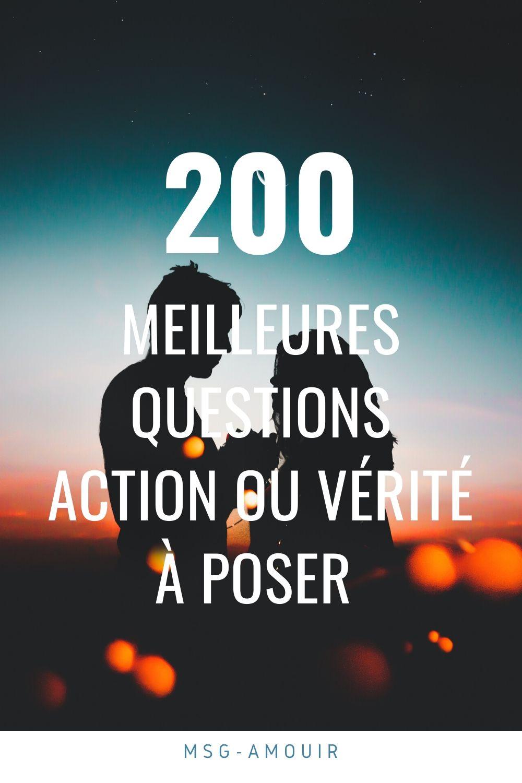 Les 200 meilleures questions Action ou Vérité à poser en 2020 - MSG D'amour en 2020 | Action ou ...