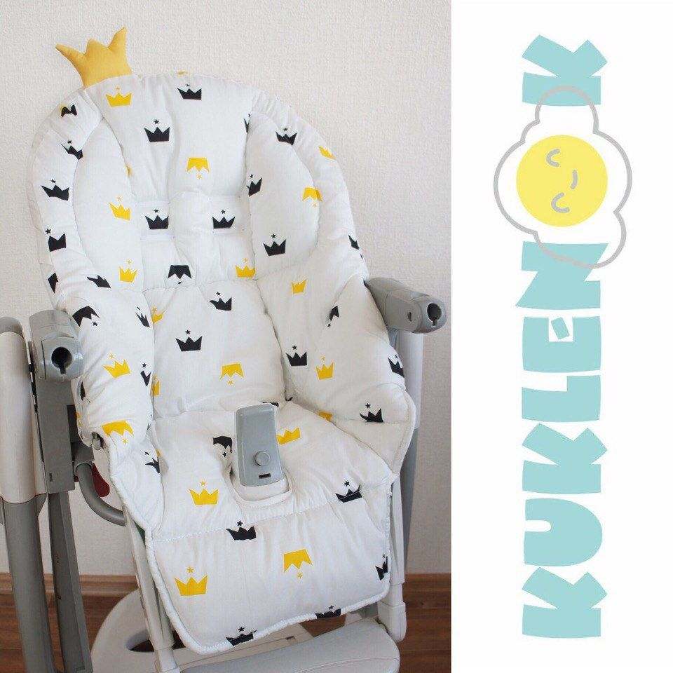 These Covers With Crowns Were Sold So Quickly Last Time I Spared All Who Missed The Link To My Shop Etsy Peg Pere Highchair Cover Swing Chair Diy Seat Pads