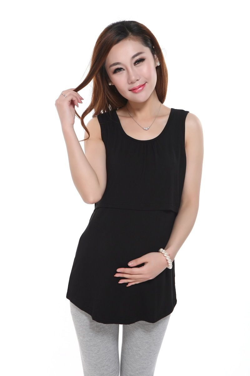 46db200056f32 Maternity Breastfeeding Nursing Tops Clothes for Pregnant Women T Shirt  Nursing Clothes Breast Feeding Baby Peeking Nurse Shirts