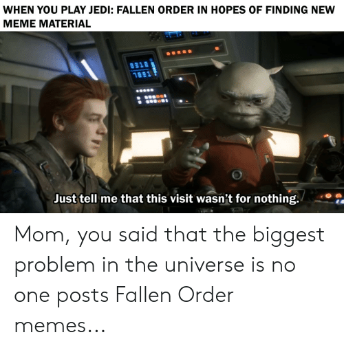 Fallen Order Meme Star Wars Fallen Order Star Wars Awesome Star Wars Humor