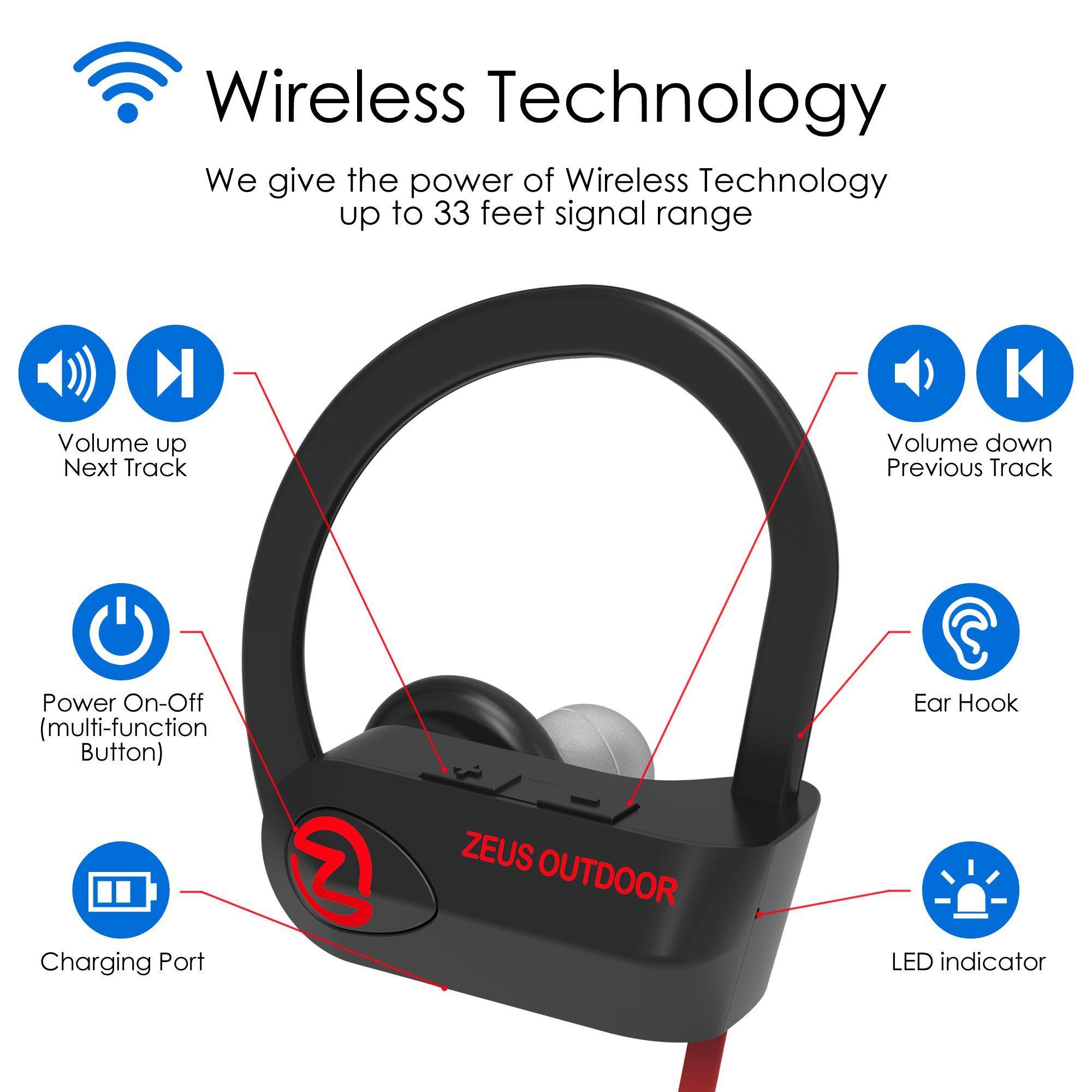 Headphones · Sport Bluetooth Headphones IMPROVED 2018 Mens Womens Running Headphones  Best Sports Wireless ... d2c34d55a6