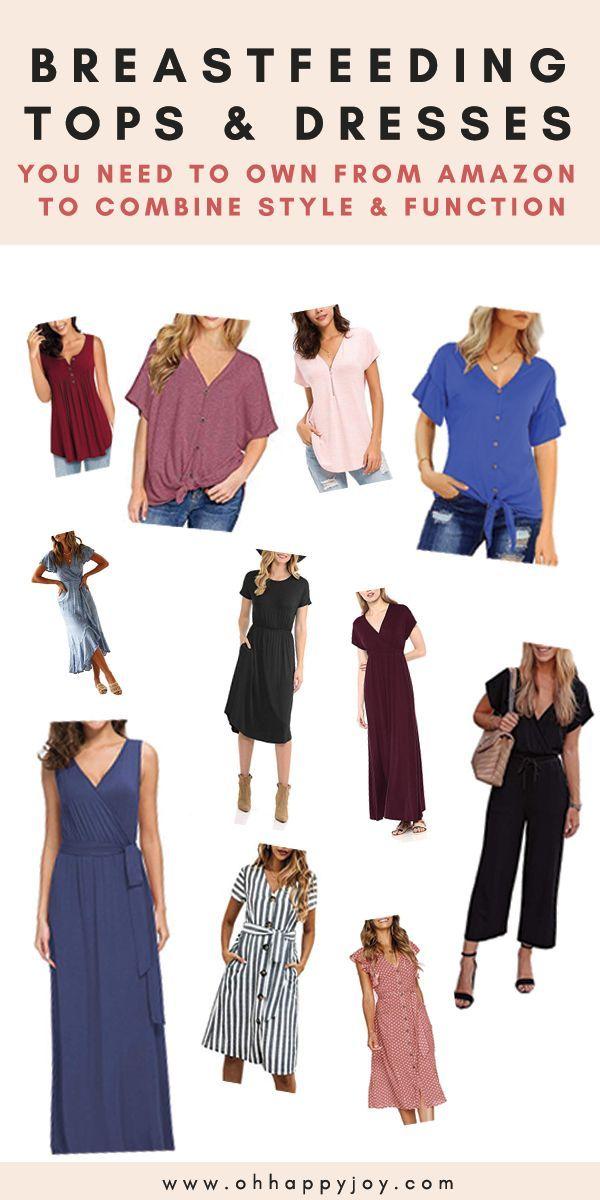 Nursing Tops And Dresses That Don T Scream Breastfeeding On Amazon Postpartum Wardrobe Breastfeeding Tops Breastfeeding Clothes Nursing Tops