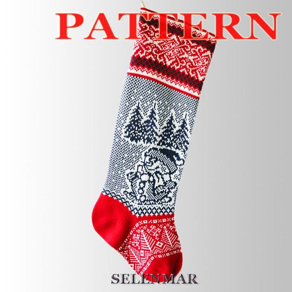 Christmas Stockingsknitting Patternsinstant Download Large