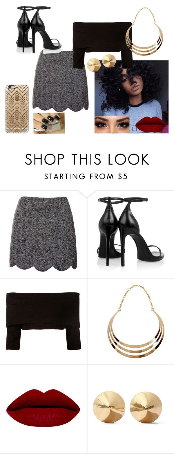 """""""Sem título #215"""" by eumaryb ❤ liked on Polyvore featuring Topshop, Yves Saint Laurent, Dorothee Schumacher, Eddie Borgo and Casetify"""