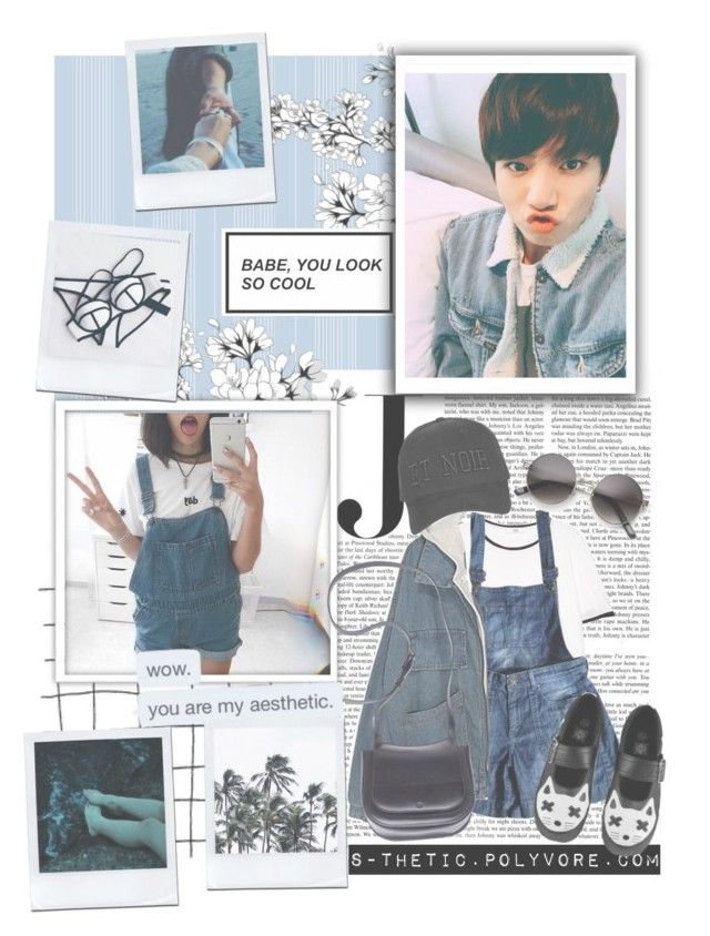 """""""A Day With Jeon Jungkook"""" by s-thetic ❤ liked on Polyvore featuring Vanity Fair, MANGO, Comptoir Des Cotonniers, T.U.K., ZeroUV, The Row and Topshop"""