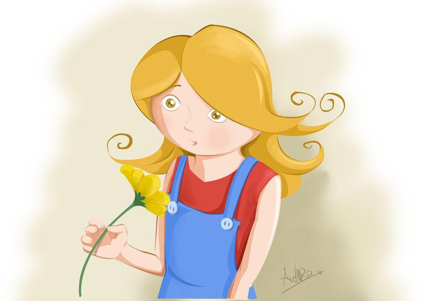 la niña con la flor...