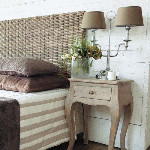 Tête de lit en rotin Kubu et mahogany massif L 160 cm   Meuble ... 517d1f378e3a