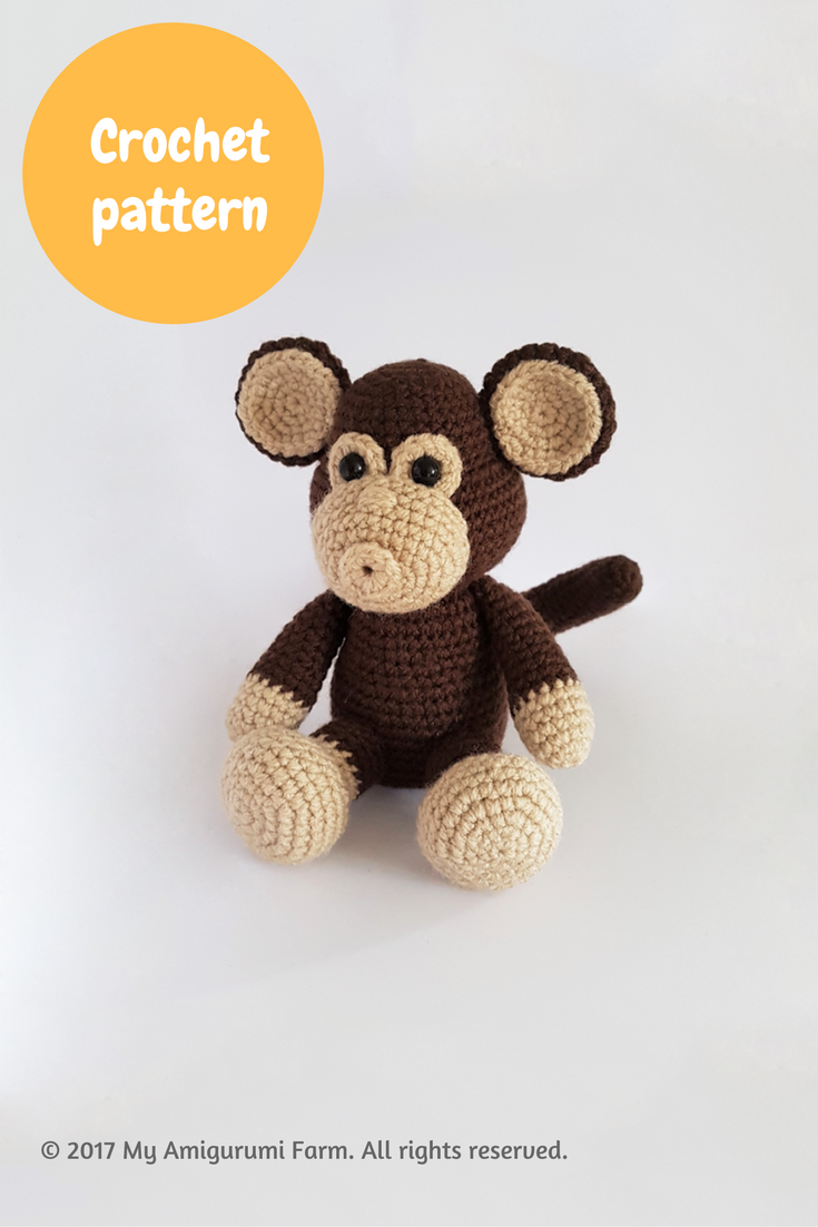 Crochet monkey amigurumi pattern | Crochet animals amigurumi ...