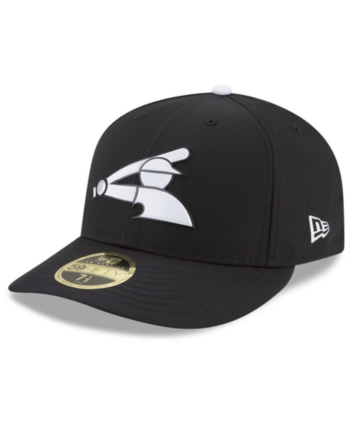 huge selection of cd54a 90d1d New Era Chicago White Sox Low Profile Batting Practice Pro Lite 59FIFTY Fitted  Cap - Black 7