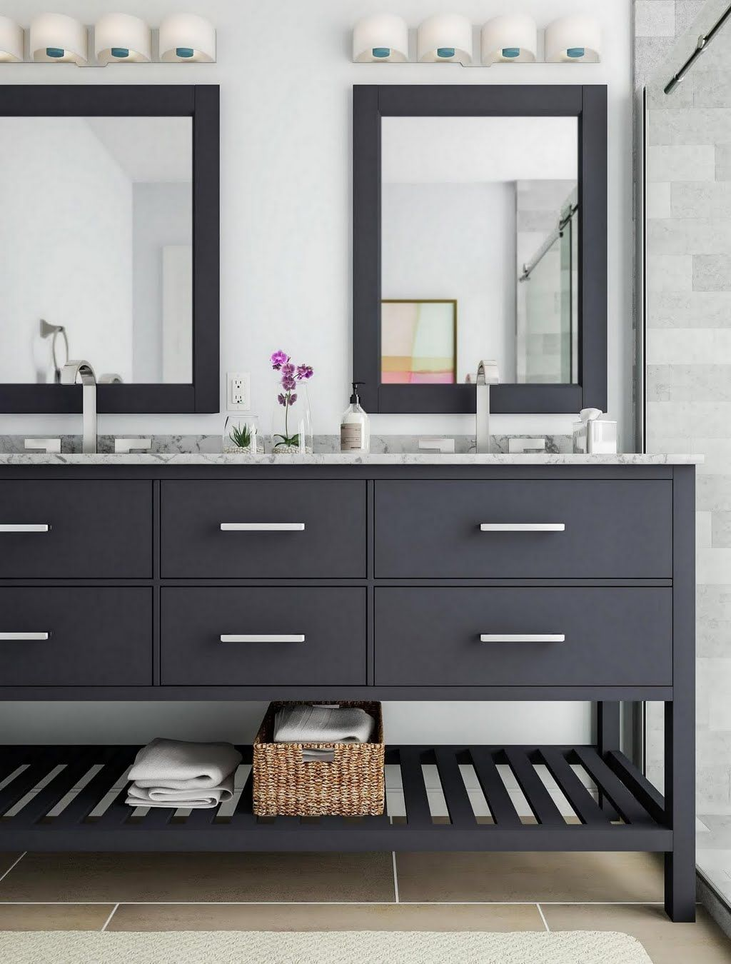 Shop our Bathroom Department to customize your OpenShelf
