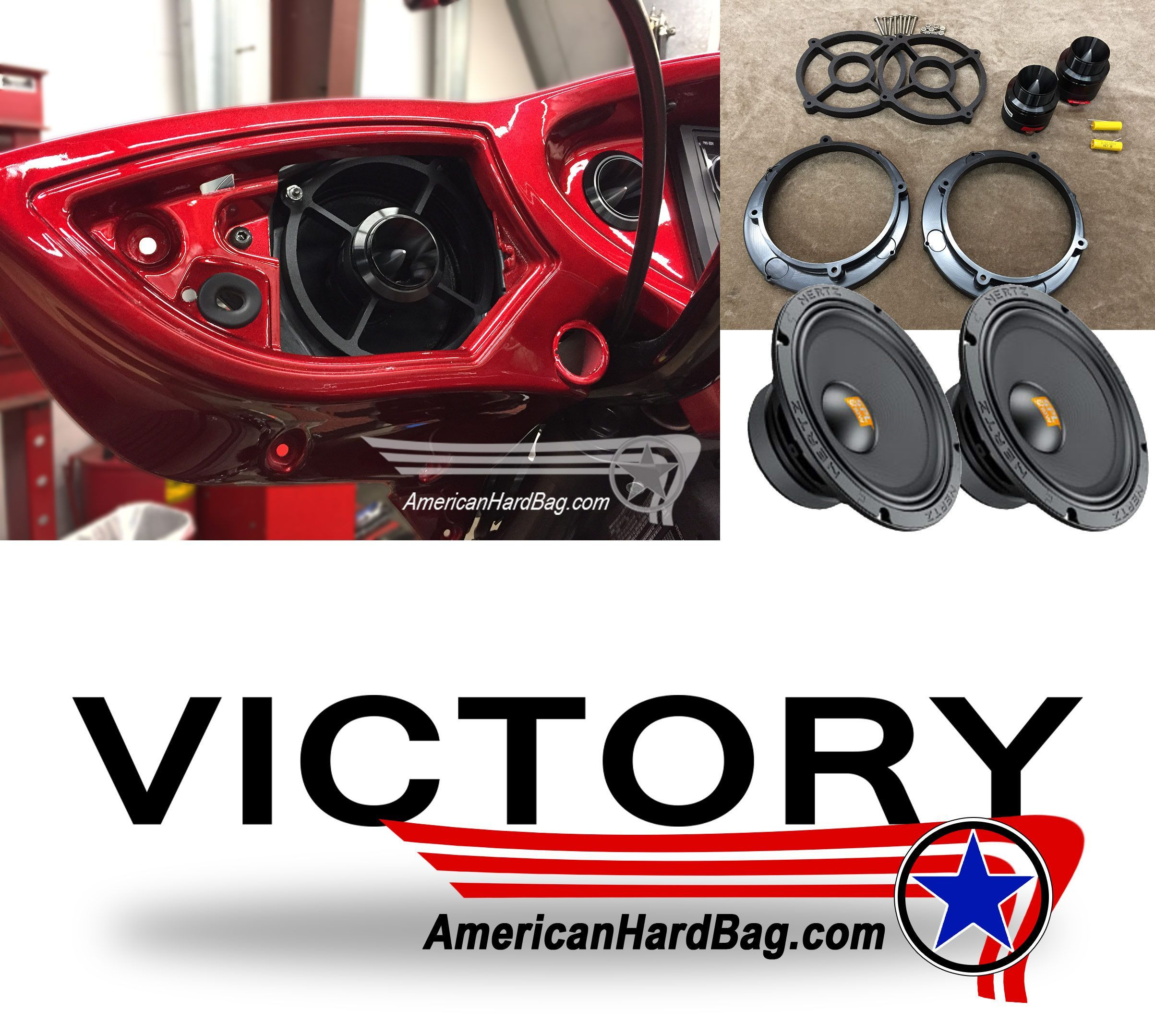 Victory Cross Country Pro Audio Motorcycle Fairing Speaker Kit