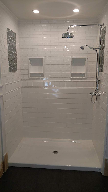 Amazon Com Super 2 Compartment Tile Recessed Shampoo Shower Niche