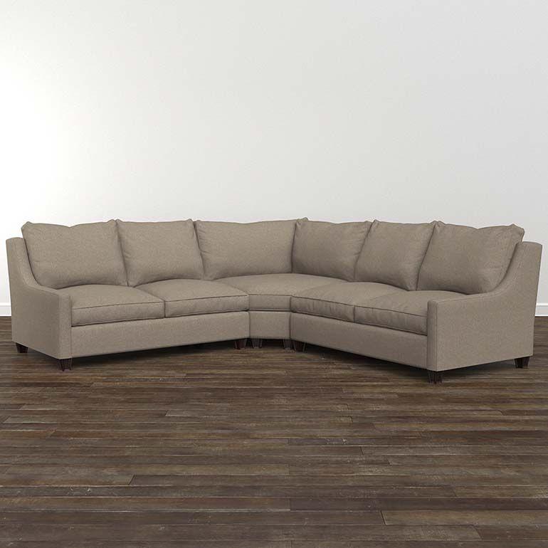 Bassett Furniture Designer Comfort Exeter Small L Shaped Sectional Sectional Fabric Sectional Bassett Furniture