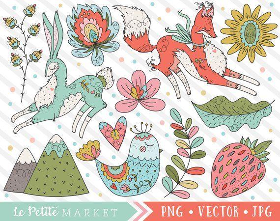 Scandinavian Folk Clipart Cute Scandinavia Style Clip Art Etsy Clip Art Art Images Dinosaur Clip Art
