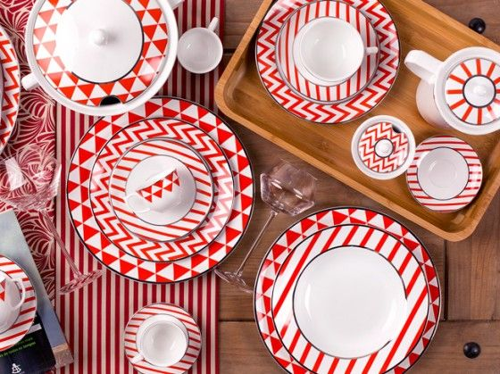 Linha Flamingo Baltic - Oxford Porcelanas  /www.oxfordporcelanas.com.br
