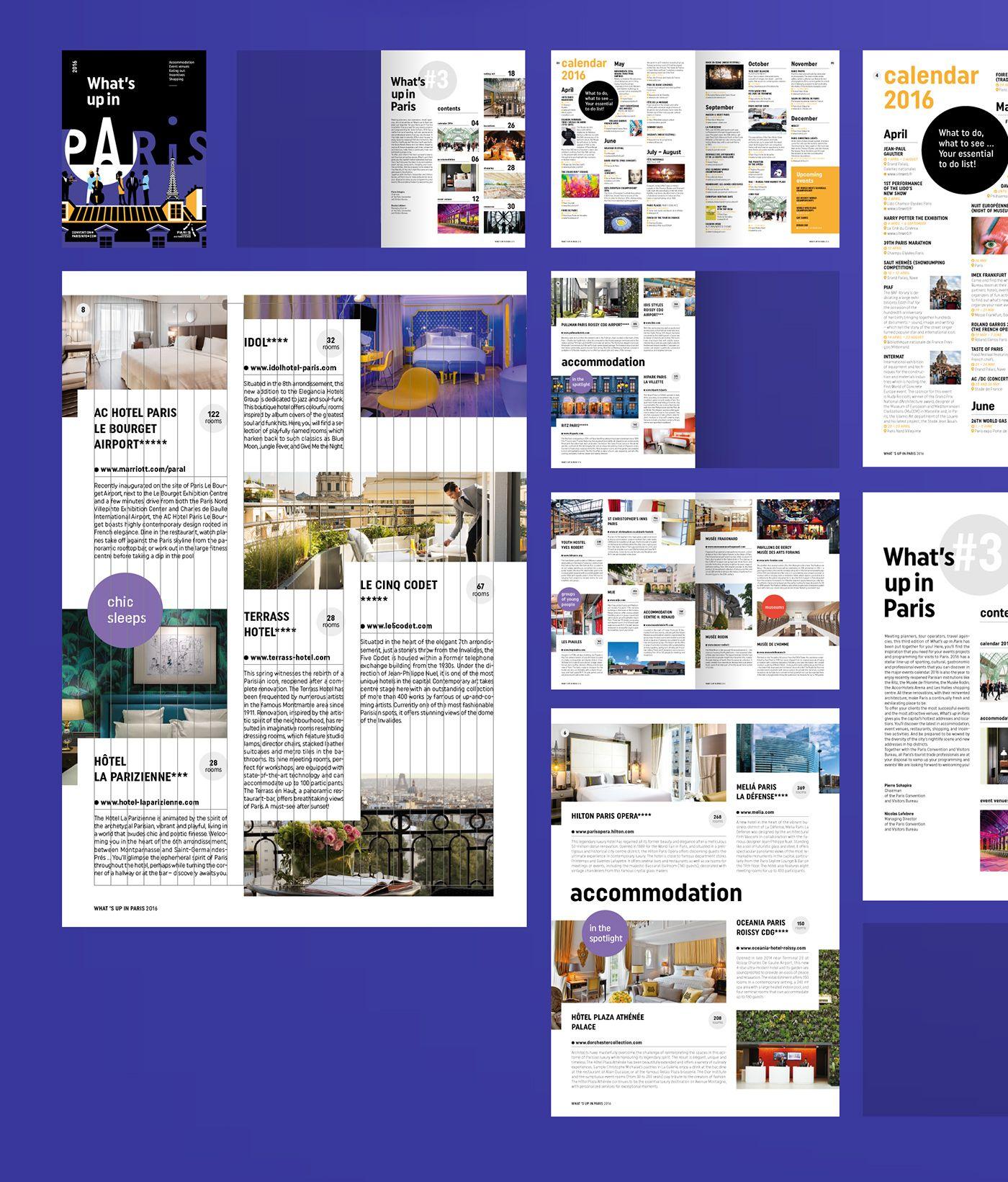 Paris Convention And Visitors Bureau Brand Design On Behance Tourism Design Branding Design Booklet Design