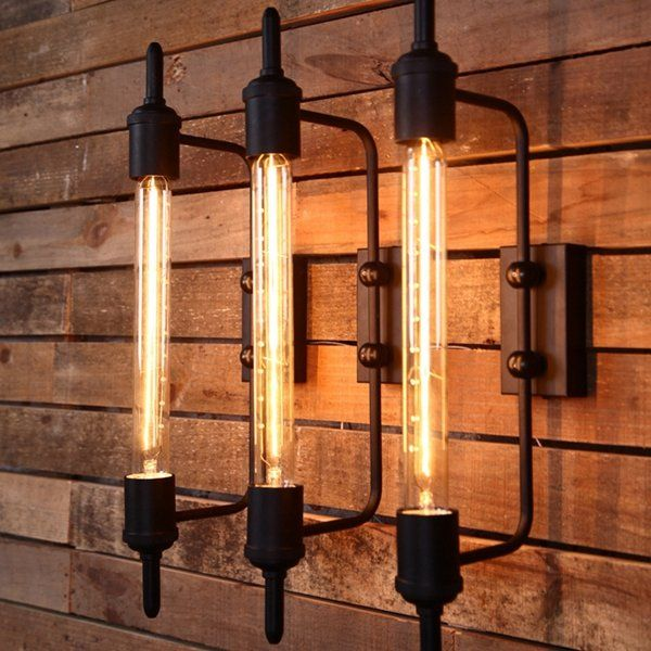 Us 35 02 20 Rust Color American Country Style Rustic Vintage Iron Wall Lamp Fixtures Indoor