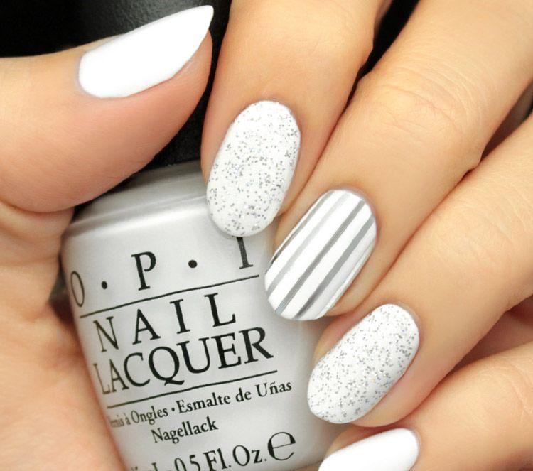 Diseños De Uñas Blanca Manicura De Uñas Uñas Blancas Y