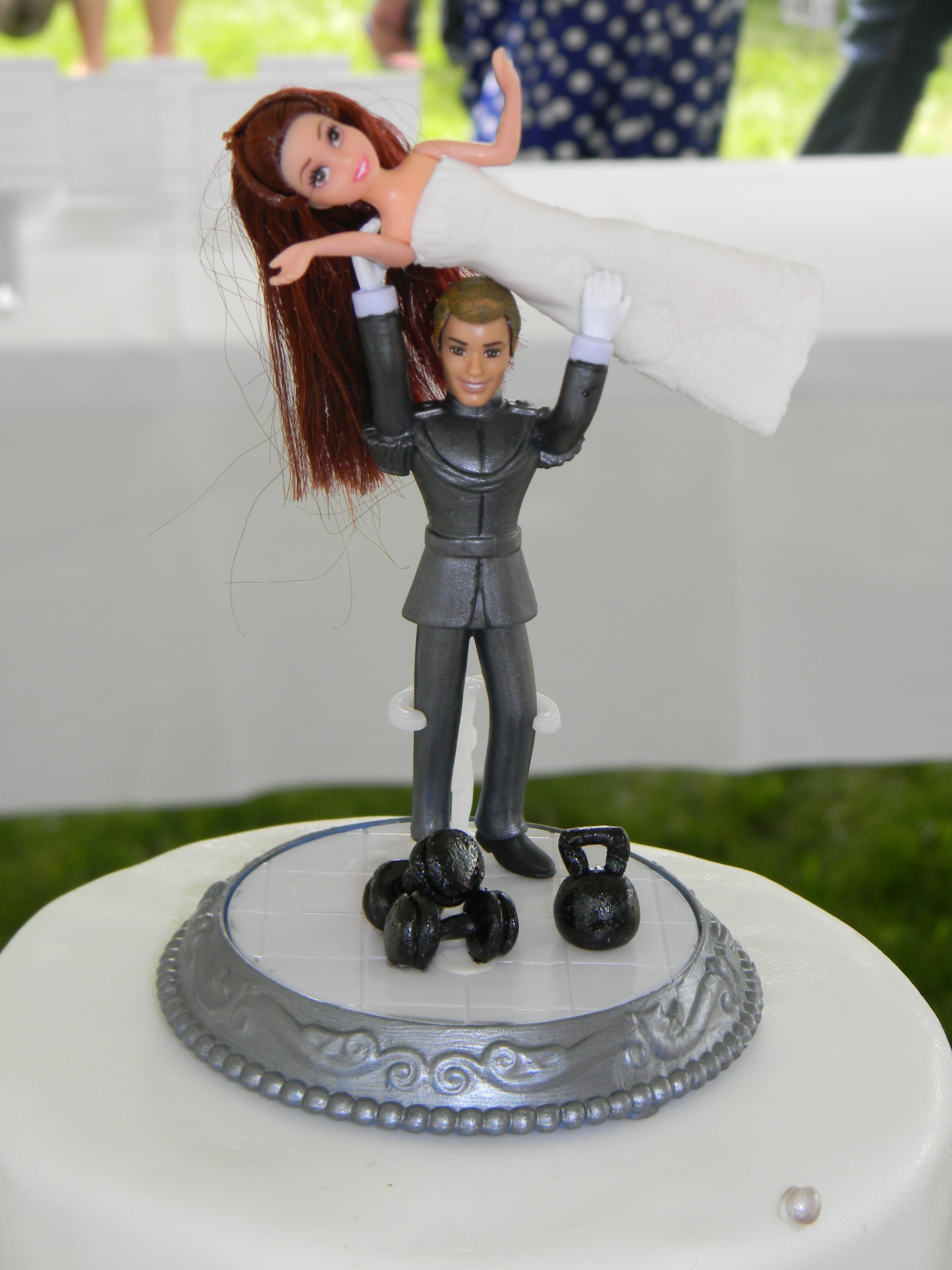 Weight Lifting Wedding Topper Cakes Pinterest To Be