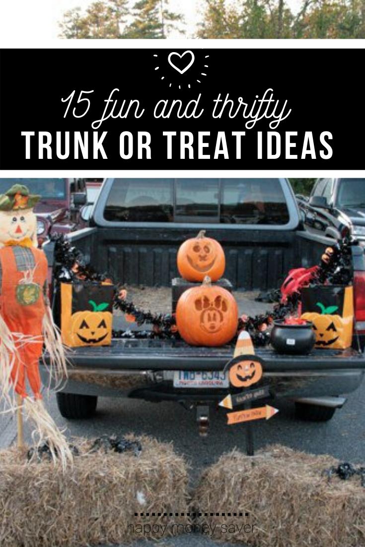 20 Thrifty Trunk Or Treat Decorating Ideas Trunk Or Treat Halloween Treats Trunks