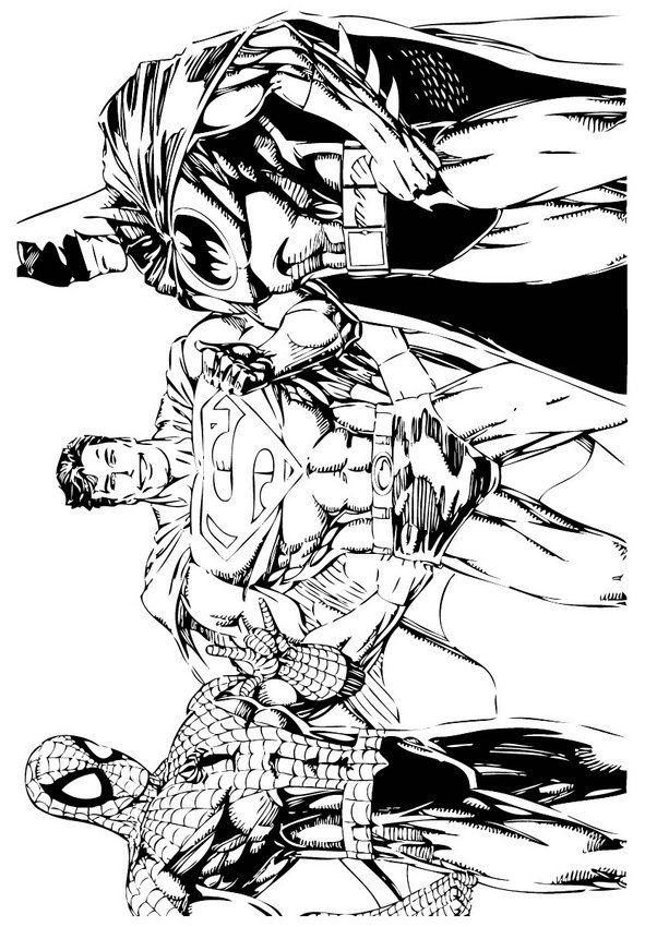 Ausmalbilder Batman Spiderman | AUSMALBILDER | Pinterest | Batman ...