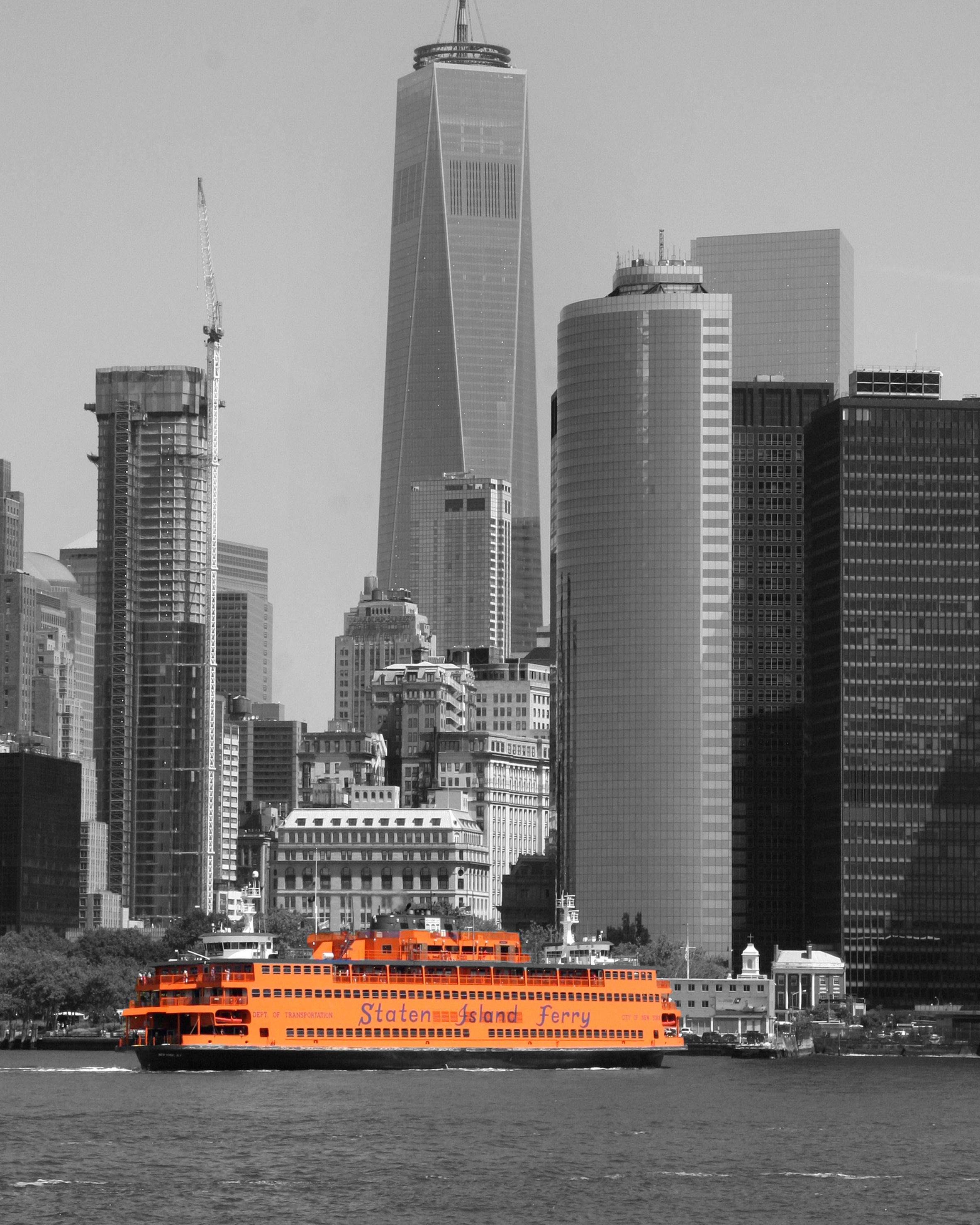 The Staten island ferry taken from governors island New York by Diane