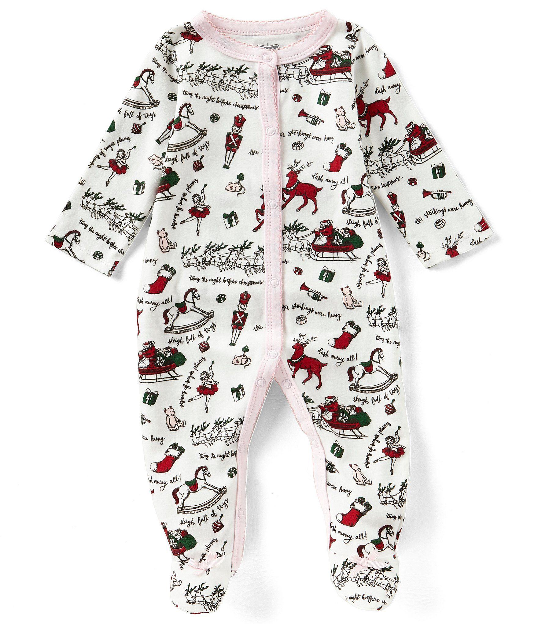 Mud Pie Baby Girls Newborn9 Months Very Merry Christmas Footed