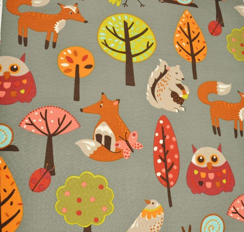 Woodland nursery fabric for Nursery fabric uk