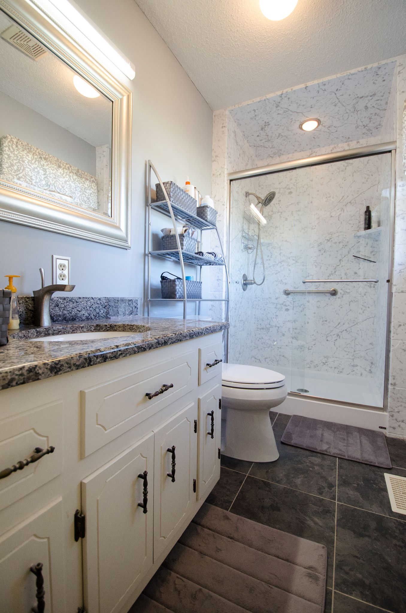 JB475- AFTER-0164 | Granite countertop, Frame mirrors and Countertop