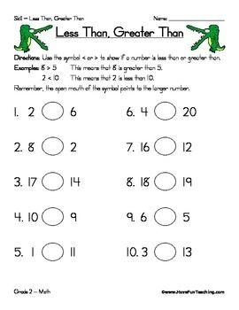 Less Than Greater Than Worksheet Kindergarten Worksheets Less Than Greater Than Kindergarten Addition Worksheets