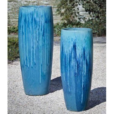 Tall Indoor Outdoor Planter Bright Blue Tall Planters Blue Planter Planter Pots Outdoor