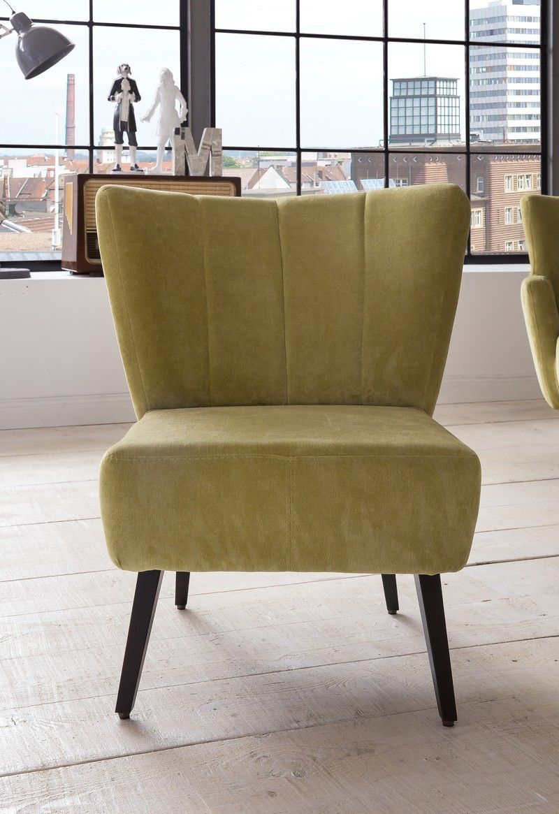 BASEL Polsterstuhl Stuhl im Retro Vintage Stil (Stühle) - Möbel ...