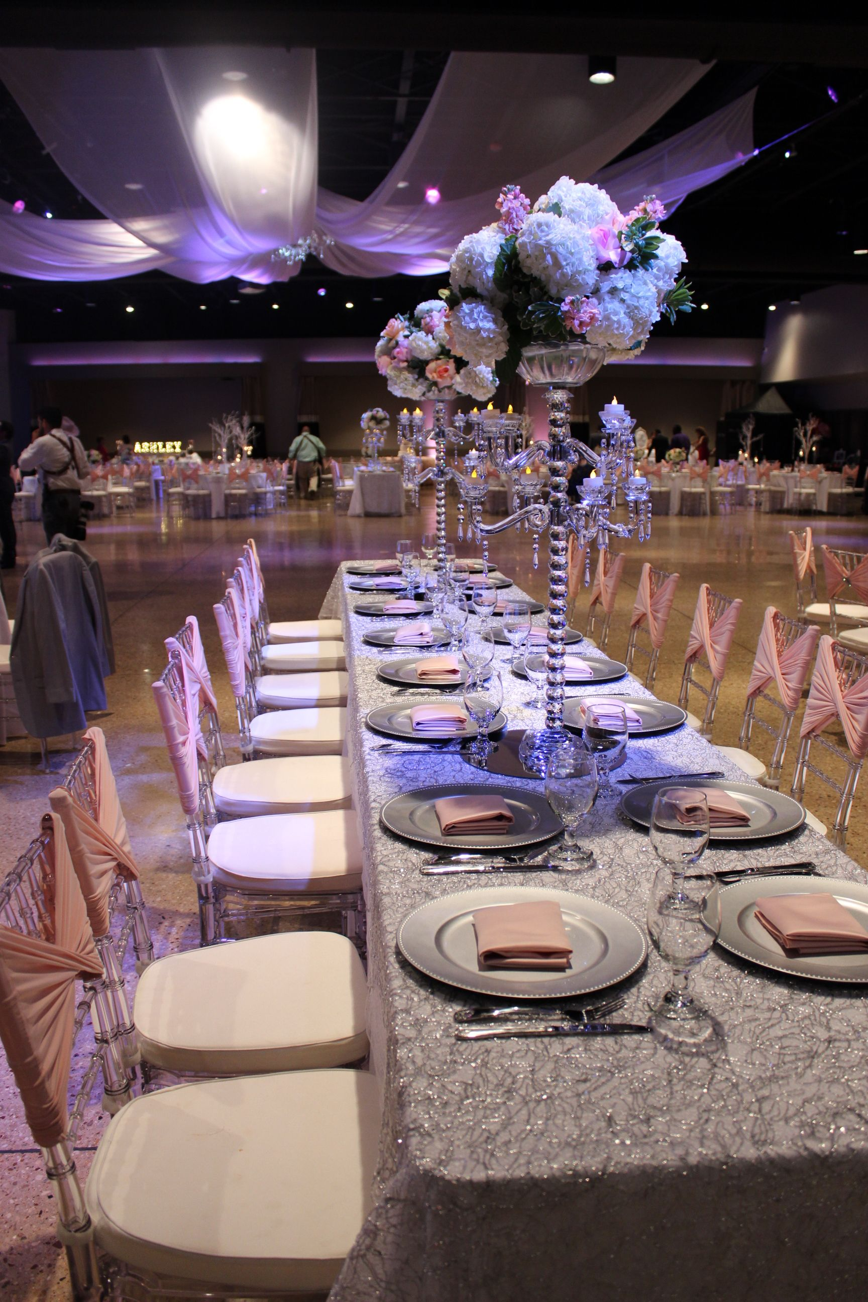 Ashley Quinceanera - Family table set up at Cendera Center ...