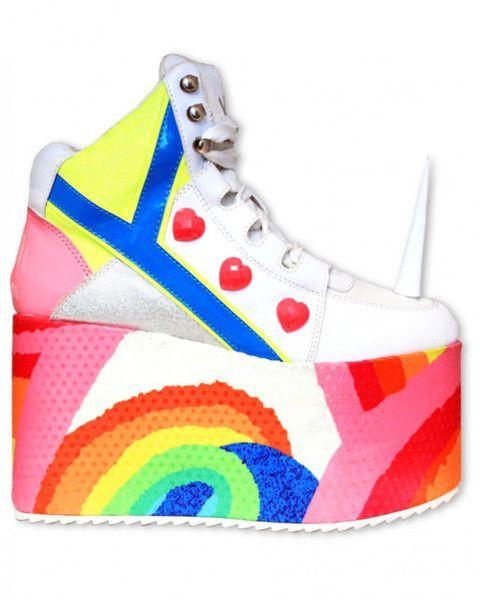 YRU Unicorn Rainbow Platform Shoes | Platform Shoes, Unicorns and ..