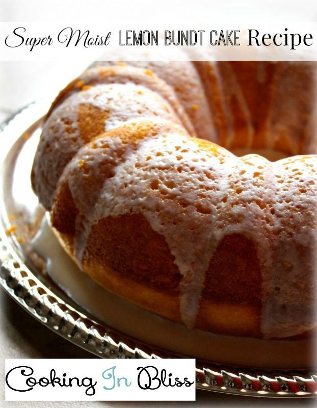 Super Moist Lemon Bundt Cake Recipe. This is so moist and light, and oh so decadent once you add cream cheese icing on top.