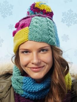 Scarf and Hat with Patchwork  - free
