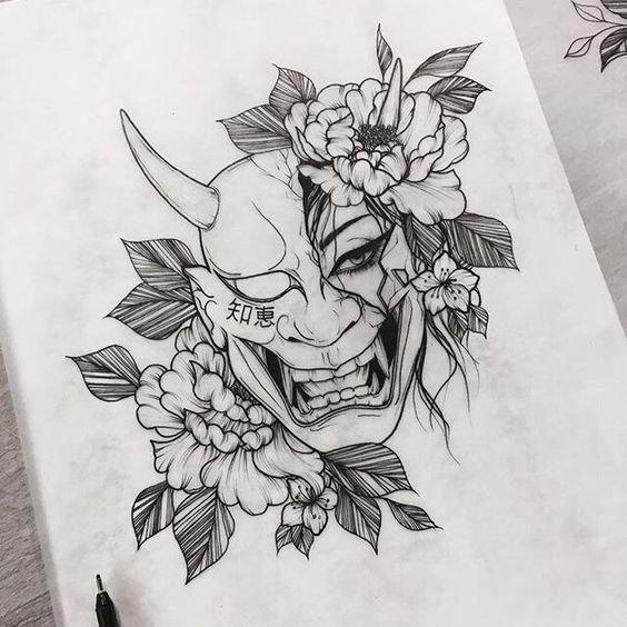 250+ Hannya Mask Tattoo Designs With Meaning (2021) Japanese Oni Demon