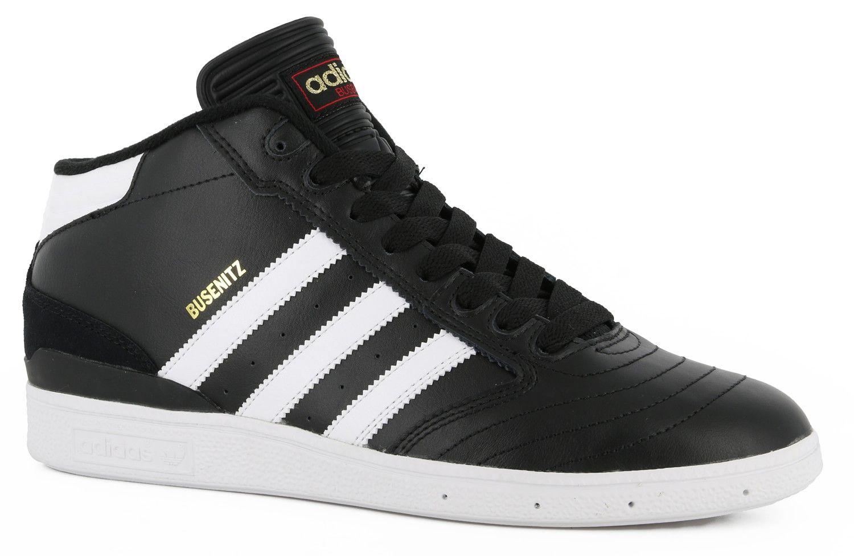 e5d6c29fbd4 Adidas Busenitz Pro Mid Skate Shoes - core black white gold metallic - view  large