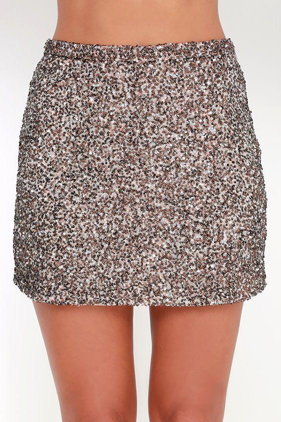 04b458f9c1 Billabong Showin' Off Bronze Sequin Skirt   dresses   Skirts, Sequin ...