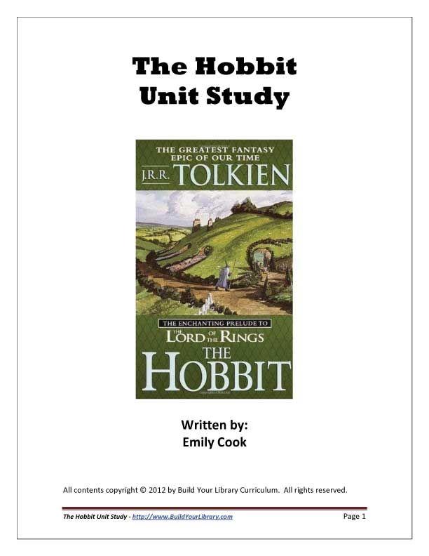 the hobbit unit study