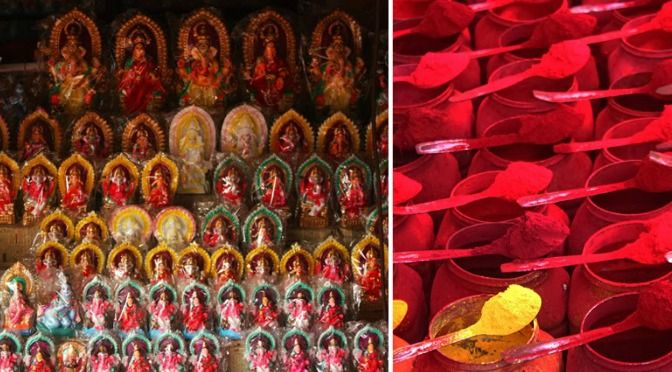 Famous for sindoor & lal joba (red hibiscus) Kalighat Kolkata is on our must see list. Click through for a tour of one of Kolkata's oldest neighbourhoods.