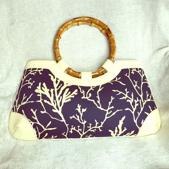 0bd4c51c59 Rafe New York Tropical Clutch Hand Bag Baguette RARE! One of a kind  authentic boutique Rafe New York baguette clutch! Cream and blue coral  pattern.