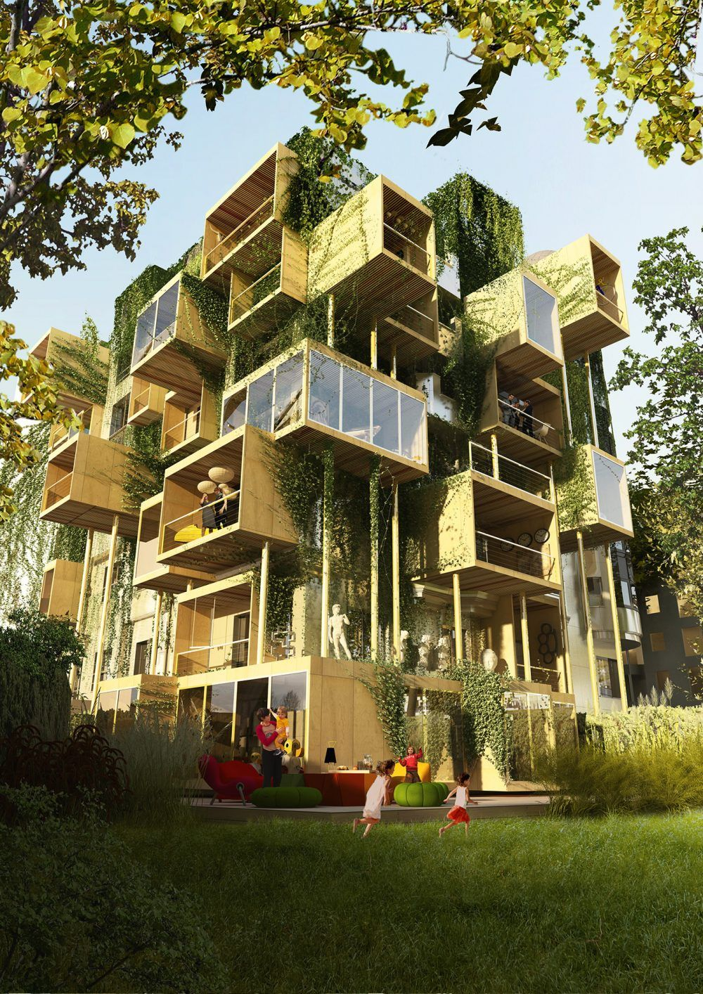 Plug in city i habiter les facades i paris 2017 st phane for Architecture futuriste ecologique