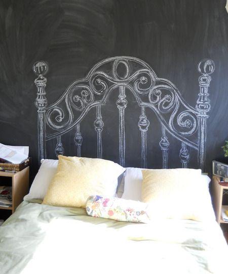 Painted Headboard Ideas 10 diy headboard ideas | chalkboard paint, white paints and