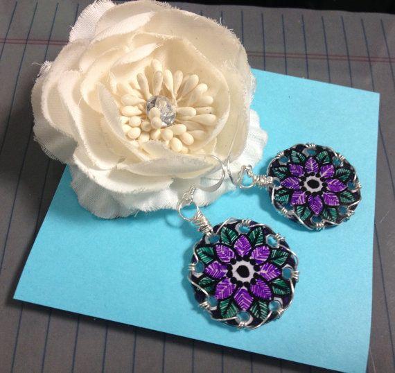 Flower Delight Earrings by JoelleLove on Etsy